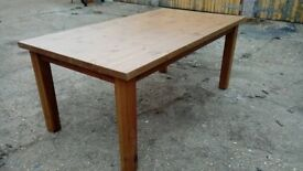 large pine dining table - free delivery