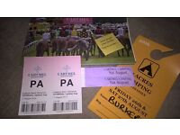 BARGAIN! Cartmel (Lake District) Bank Hol Weeknd Tickets for 2 (Includes 2 night camping on course)