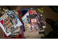 Motorbike magazines 80s 90s early 2000s. 2 crates