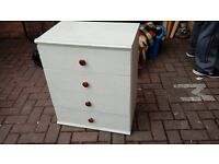 white chest of drawers - free local delivery