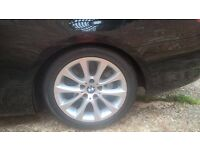 "GENUINE BMW E92 17"" ALLOY WHEELS & BRIDGESTONE TYRES"