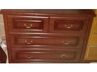 mahogany chest of drawers - free local delivery