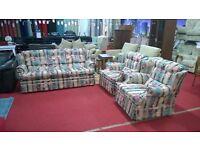 3 piece floral fabric design suite