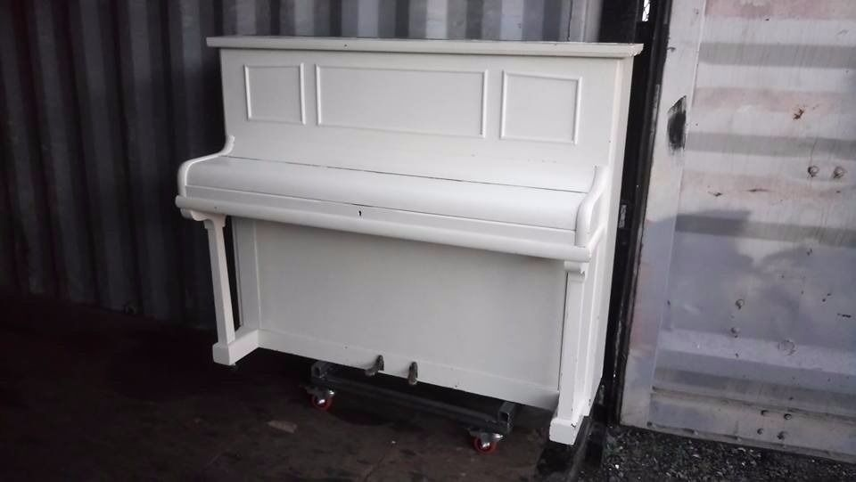White Shabby Chic Hamilton Upright Piano with Delivery available