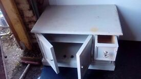 white painted pine tv unit