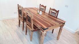 Sheesham Wood Dining Set only £120