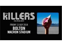 The Killers x2 seated tickets, 13 July 2018 Bolton