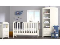 Mothercare Baby Nursery Set Padstow 3-Piece Nursery Furniture Set in White