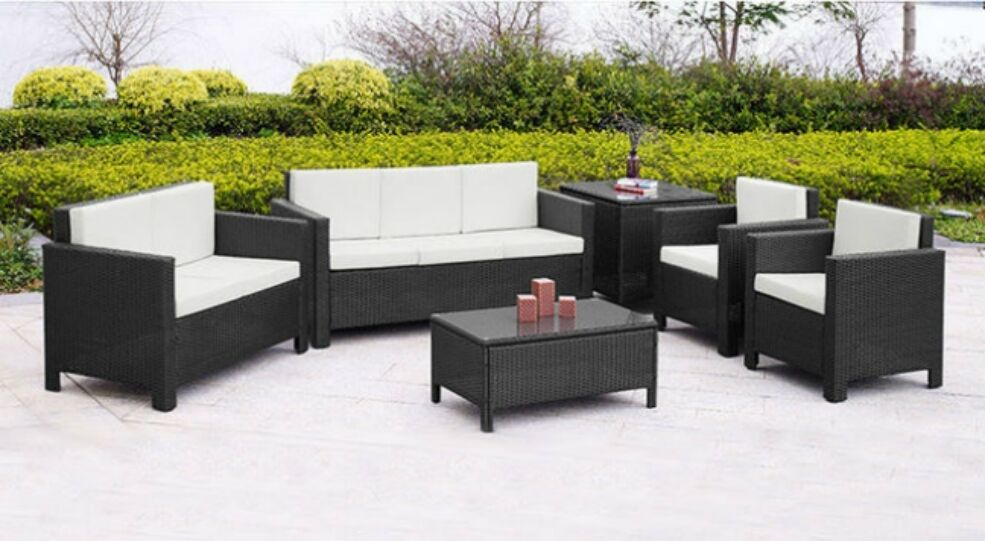 rattan garden furniture set sofa chairs table conservatory. Black Bedroom Furniture Sets. Home Design Ideas