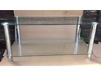 Matrix Coffee Glass Table, Side Table and corner Television unit- Set of 3- Clear glass and Chrome