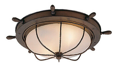 - NEW 2 Light Nautical Beach Cabin Outdoor Ceiling Lighting Fixture