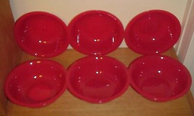 (Lot of 6) ~  Red  Plastic Bowls ~  21oz  ~ BPA FREE -  FREE SHIPPING](Red Plastic Bowls)