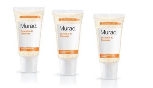3 x Murad Essential-C Cleanser vitamin environmental shield - travel 1.5 x 3