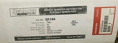 Reliance Q-series 10 Pole Transfer Switch From Honda Q310a 30amp
