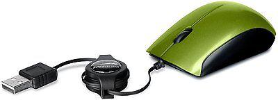 Speedlink Maus USB MINNIT 3-Tasten-Maus einziehbares kabel Maus grün E7-321074