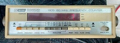 Bk Precision Dynascan Model 1805 5hz-80mhz Frequency Counter Digital Display