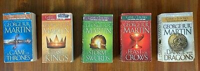 Game of Thrones 1-5 set Martin PB lot A Song of Ice Fire series Dance Feast
