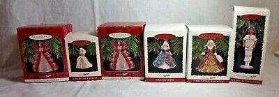 6 Holiday Barbie Hallmark Ornaments 1994 1995 1996 & 1997 & Native American