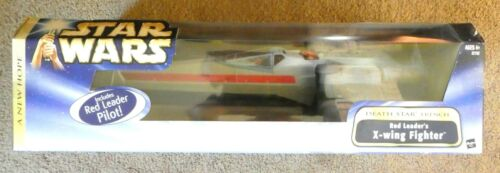 Star Wars A New Hope Red Leader X-Wing Fighter (Death Star Trench) with Pilot