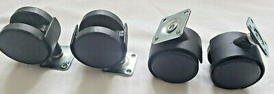 Swivel Caster Furniture 2 Inch Twin Wheel With Plate Screws