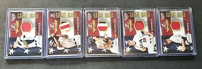 2013 PANINI USA BASEBALL CHAMPIONS GAME GEAR JERSEY PRIME PATCH LOT OF 5 CARDS