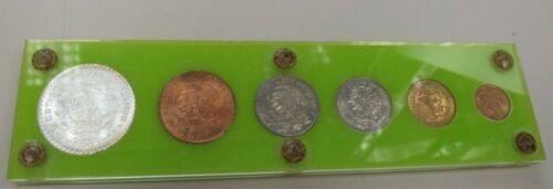 1964 Mexico UNC Coin Set with Silver Morelos Peso (21744-world-Y)