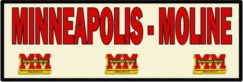 """MINNEAPOLIS-MOLINE 6"""" x 18"""" ALUMINUM Sign"""