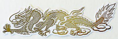 Smaller Dragon Car Sticker Computer Feng Shui Gold Decals ()