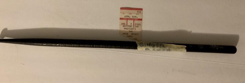 Ginger Baker Drumstick Rare used With Jack Bruce Both Of Cream Rare Performance