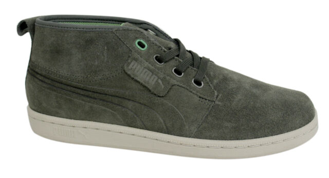 Puma Hawthorne Mid Top Mens Unisex Trainers Green Leather Suede 351287 07 P2