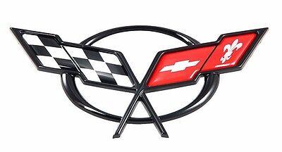 Front Hood Cross Flags Emblem Replacement 19207384 fits 1997-2005 Chevy Corvette