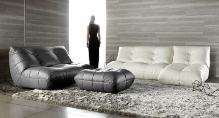 GUS Leather Lounge Suite - 5 pieces, 6 - 8 seats. Wollongong 2500 Wollongong Area Preview