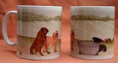 GRIFFON BRUXELLOIS DOG MUG OFF TO THE DOG SHOW WATERCOLOUR PRINT SANDRA COEN ART