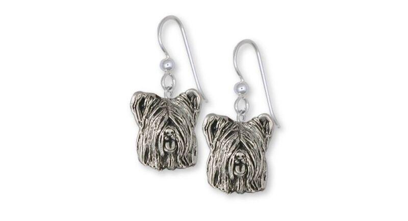 Skye Terrier Earrings Jewelry Sterling Silver Handmade Dog Earrings SKY4-E