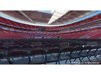 x2 FLOOR TICKETS - Block GG Row L - CHEAPEST FLOOR AVAILABLE £350 - AJ vs Klitschko Wembley Stadium