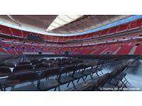 FLOOR TICKETS for sale x2 - Anthony Joshua vs Klitschko Wembley Stadium - Block P
