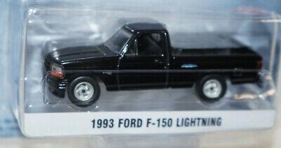 black 1993 ford f-150 lightning pickup truck 1/64 diecast model new greenlight