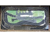 Vintage Hornby Dublo 3-rail oo gauge train track and two boxed train sets