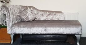 Crushed Velvet Chaise Lounge
