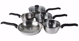 BRAND NEW: 5 Piece Stainless Steel Cookware Set