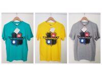 NEW Mens Grey Umbro Badge T-Shirt | 3 for £11