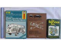 3 BOOKS RETRO Haynes Volkswagen manual VW 1600 Car service data Morris Minor HOME CLEARANCE SALE