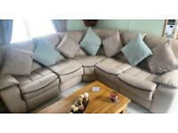 Leather corner sofa eclectic recliners