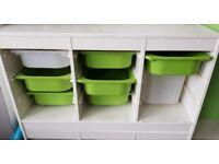 Ikea Trofast Storage Unit with Drawers