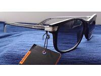Brand New Ben Sherman Portobello Rectangle Sunglasses in Black on Gingham