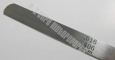 .016 .406mm Feeler Gage Gauge 12 Long Strip 12 Wide Usa Made Carbon Steel