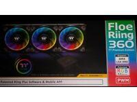Thermaltake Floe Riing RGB 360 TT Premium Edition | 360mm CPU Cooler | Like New