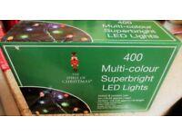 400 MULTI CHRISTMAS L.E.D LIGHTS NEW
