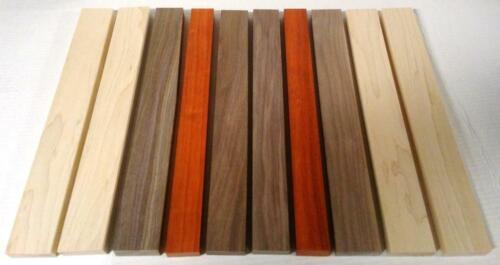 "10 Pack 3/4""x16"" EXOTIC PADAUK Black Walnut Hard Maple Wood Cutting Lumber Board"