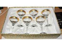 Boxed & Unused Cristalleria Italian Set of 6 Glasses